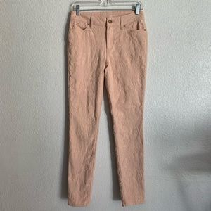 Chico's | Jeggings peach skinny textured pants 2R